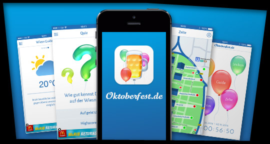 iPhone- & Android-App Oktoberfest.de